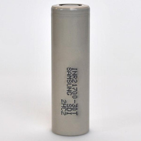 SAMSUNG 30T 21700 35A FLAT TOP 3000MAH BATTERY - GENUINE
