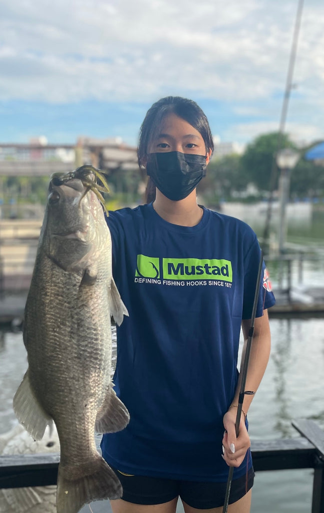 Giant Barramundi WIth Mustad Ink Vader