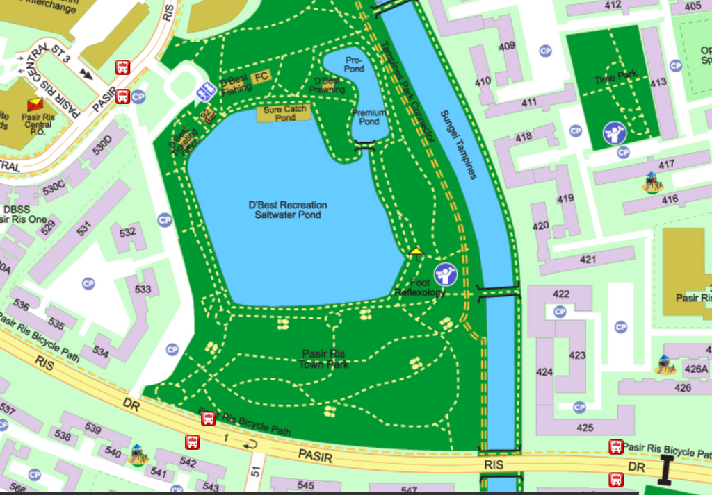 D'Best Fishing Pond Map