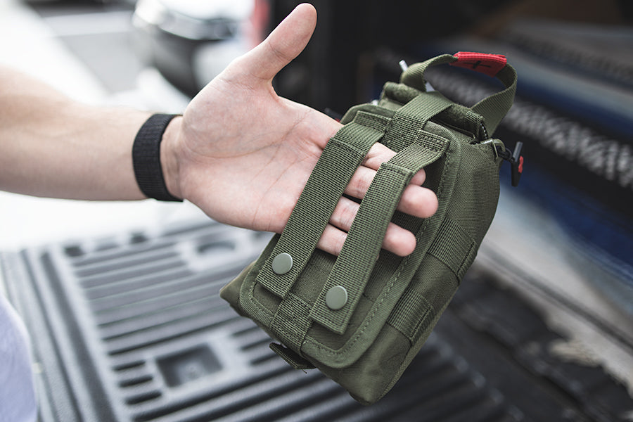 Attachment straps make TFAK easy to attach to other tactical devices
