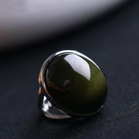 Anello in Obsidian Black e Argento 925