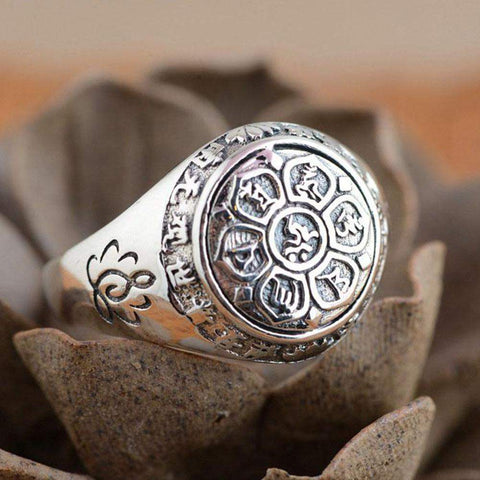 "Ring ""Om Mani Padme Hum"" in argento 925"
