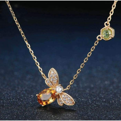 "Collana ""Golden Bee"" citrino"