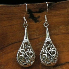 Silver filigree earrings from Asia