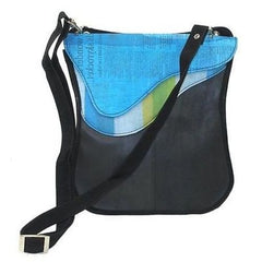 Purse made of recycled plastic and tires