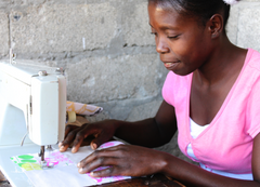 Women sewing in Haiti