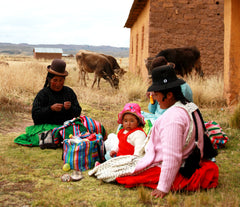 finger puppet knitters in peru