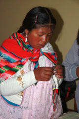 Knitting in Peru