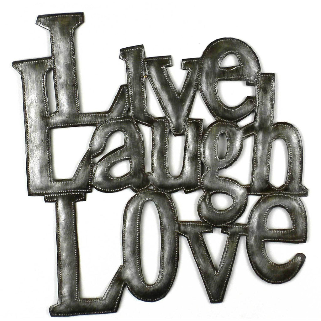 Love Laugh Live Metal Wall Art - Haiti