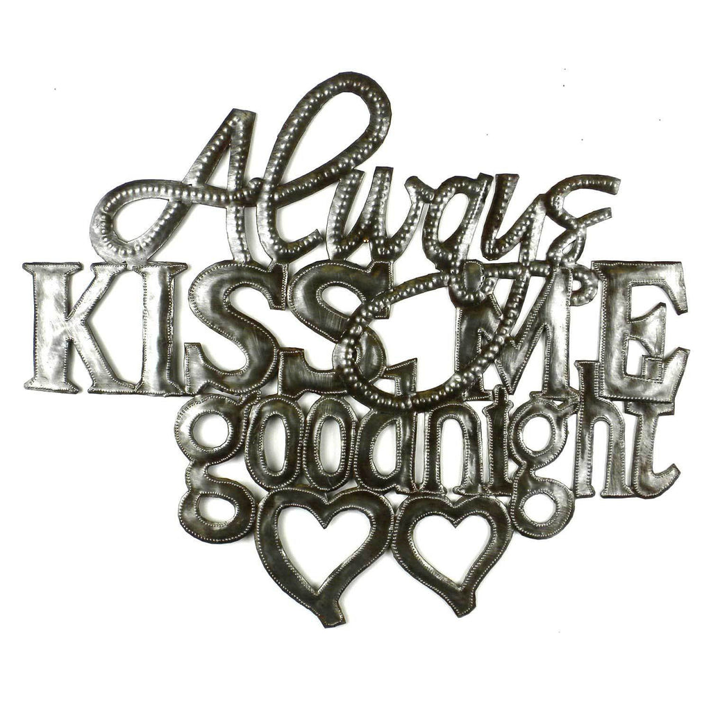 Kiss Me Goodnight Metal Wall Art - Haiti