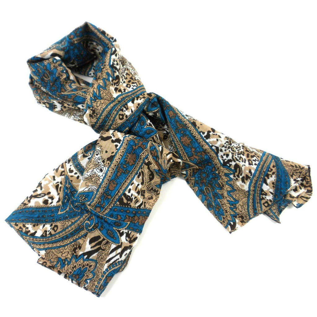 Paisley Cotton Scarf - India