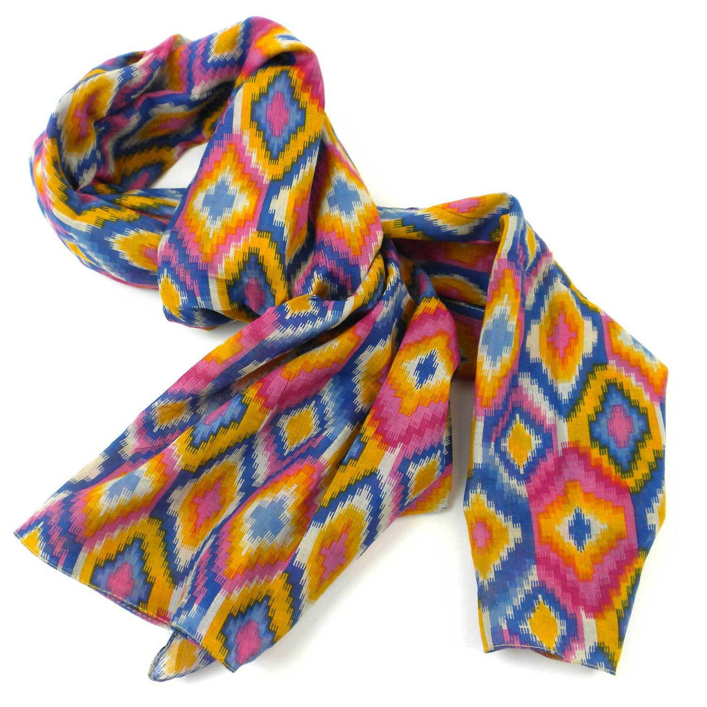 Multicolored Kilim Cotton Scarf - India
