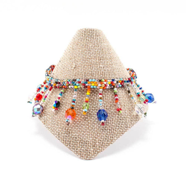 Beach Ball Beaded Anklet - Multi - Guatemala