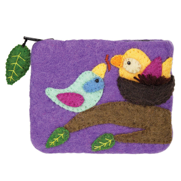 Felt Coin Purse - Cozy Nest - Nepal
