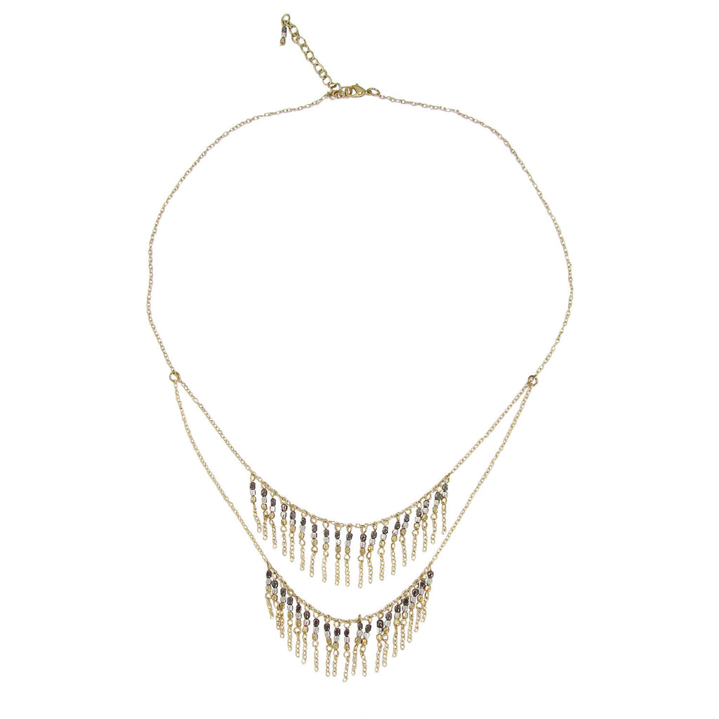 Layered Waterfall Necklace - India