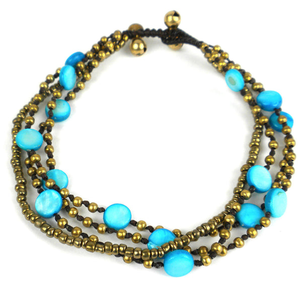 Many Moons Anklet - Turquoise - Thailand