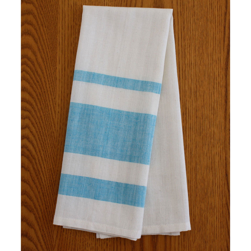 Blue Stripe Cotton Tea Towels Set of 2 - India