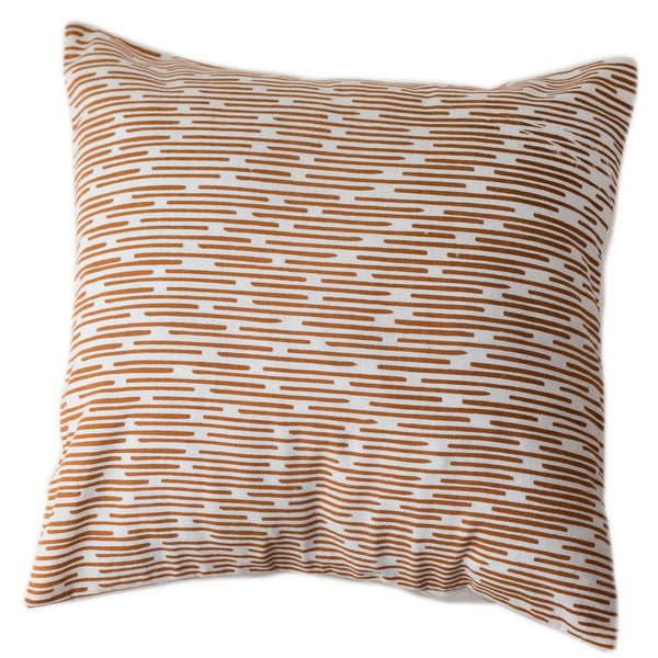 Copper Dashes Pillow Cover 16 by 16 - India
