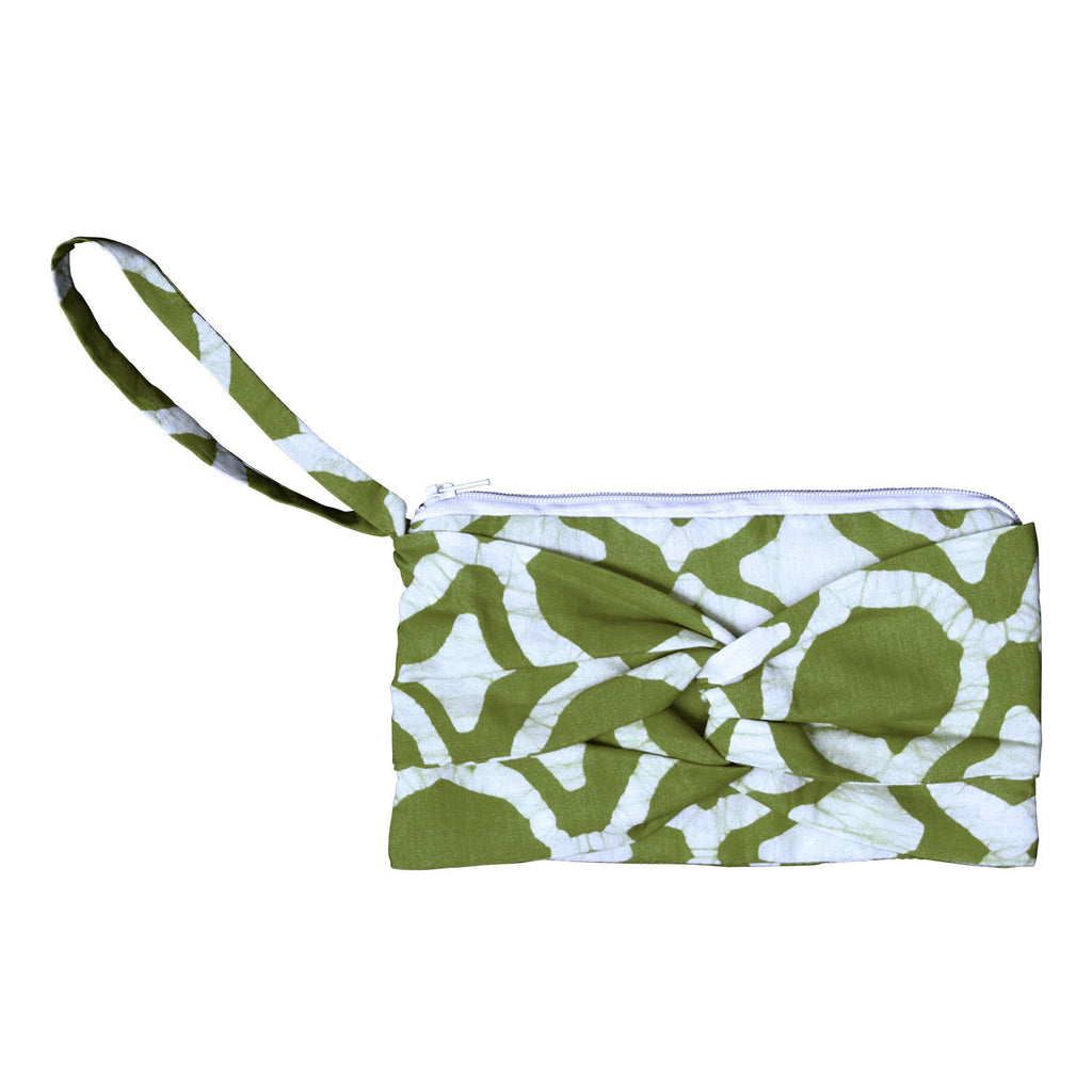 Clutch with a Twist - Fisheye Olive - Ghana