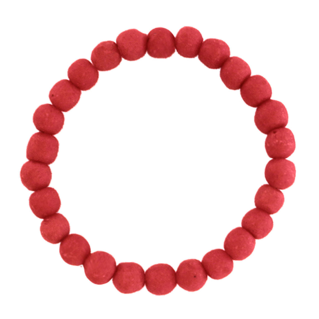 Recycled Glass Bead Bracelet Poppy - Ghana