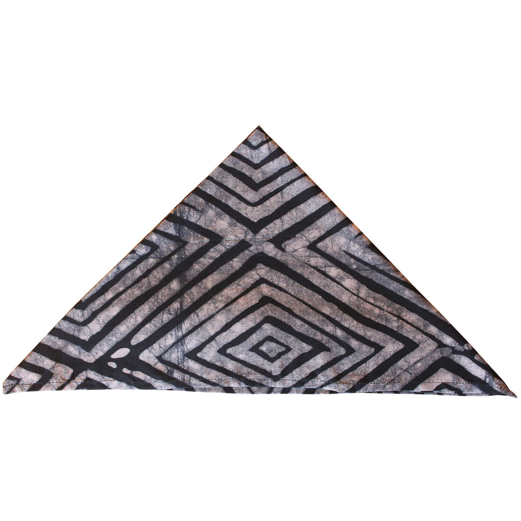 Set of Four Napkins - Diamonds Khaki - Ghana