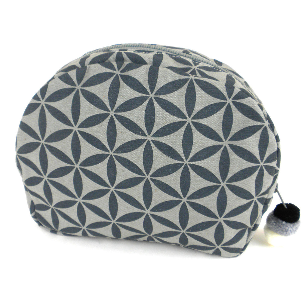 Flower of Life Cosmetic Bag Grey/Grey - Thailand