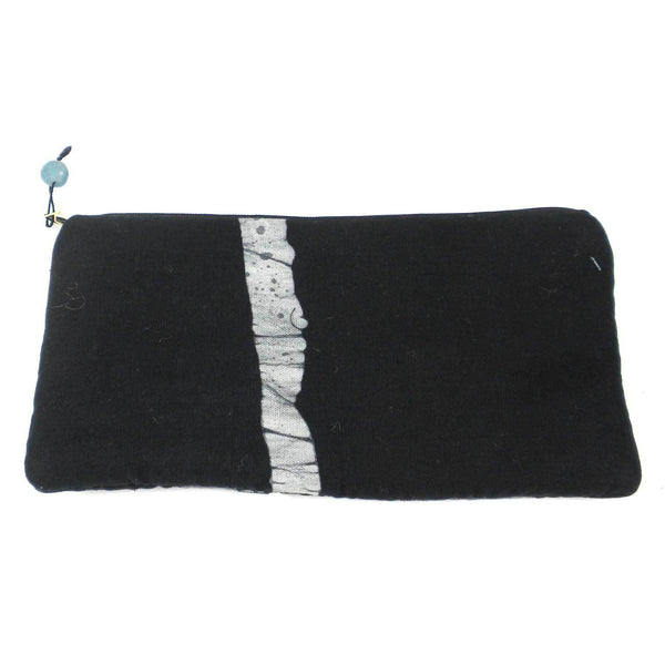 Batiked Clutch Purse - Black - Ghana