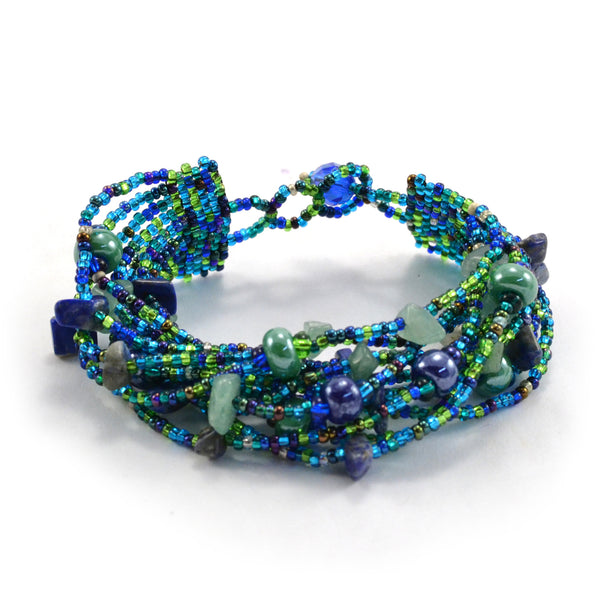 Beach Ball Bracelet - Blue - Guatemala