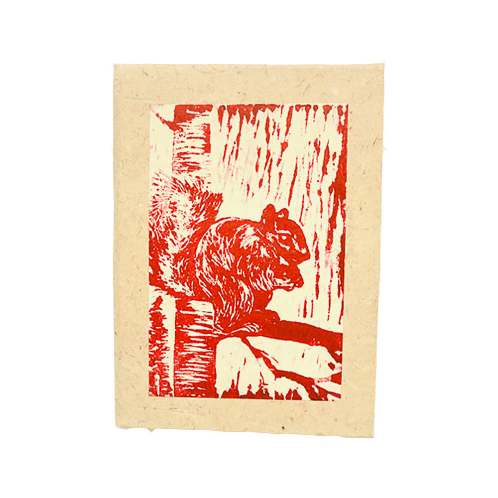 Block Print Journal - Squirrel - Kenya
