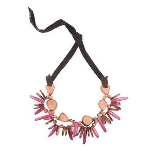 Rhumba Necklace in Salmon Handmade and Fair Trade
