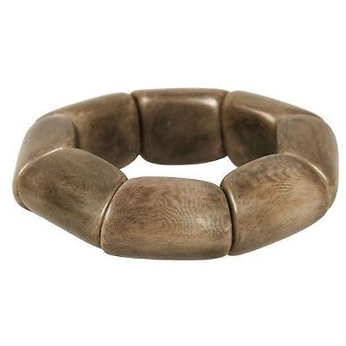 Riverbed Tagua Nut Bracelet in Chocolate Handmade and Fair Trade