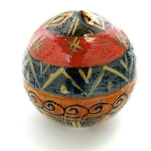 Hand-Painted Ball Candle - Bongazi Design Handmade and Fair Trade
