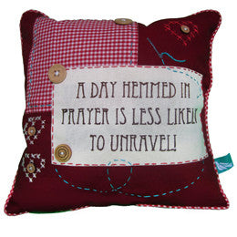 A Day Hemmed In Prayer Pillow Cover - India