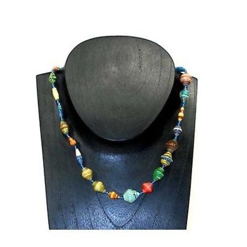 Glossy Recycled Paper Necklace - Kenya
