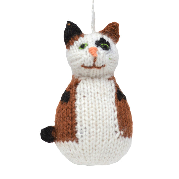 Alpaca Calico Cat Ornament - Peru