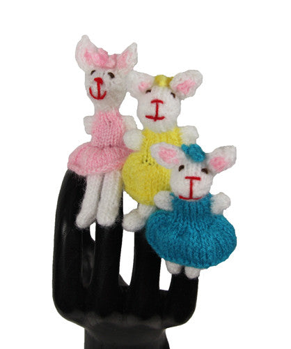 Three Bunnies Finger Puppet Set - Peru