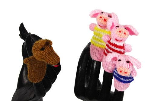 Three Little Pigs and the Big Bad Wolf Finger Puppets - Peru