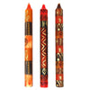 Set of Three Boxed Tall Hand-Painted Candles - Bongazi Design - South Africa
