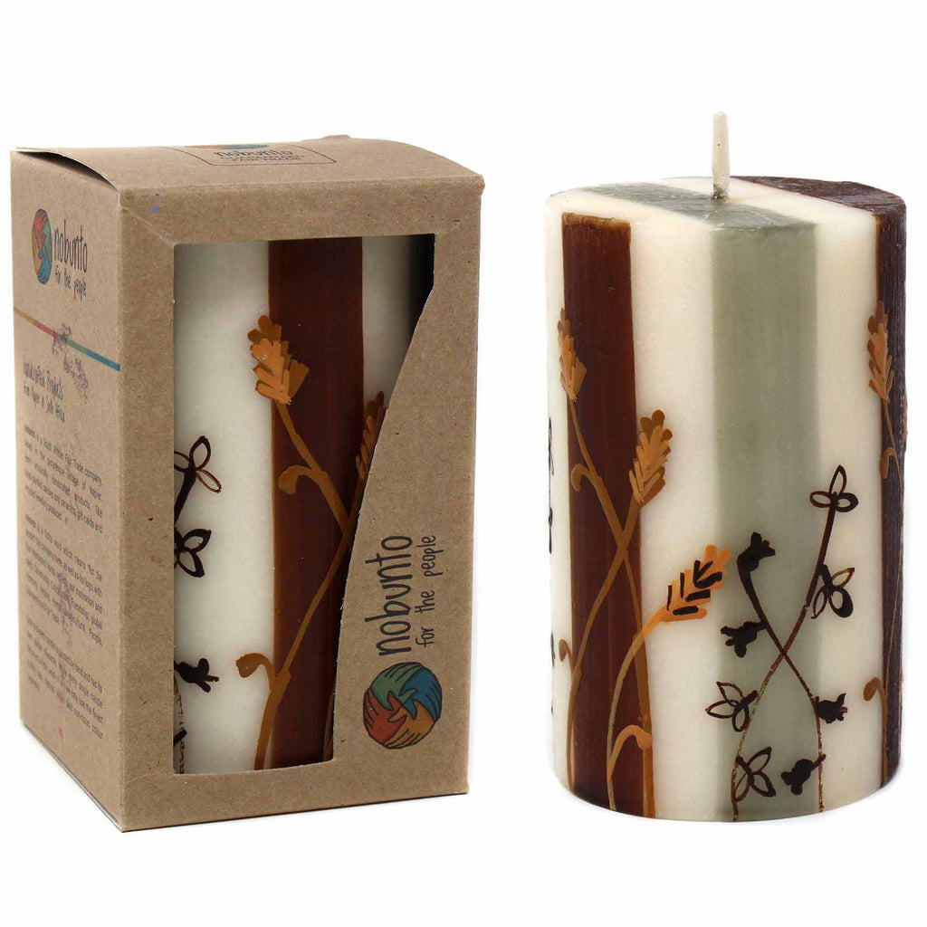 Hand Painted Candle - Single in Box - Kiwanja Design - South Africa