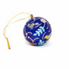 Handpainted Ornament Birds and Flowers, Blue - Pack of 3 - India
