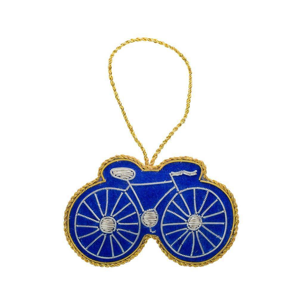 Larissa Plush Ornament - Bicycle - India