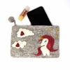 Hand Crafted Felt Unicorn Pouch - Nepal