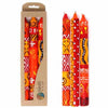 Set of Three Boxed Tall Hand-Painted Candles - Zahabu Design - Nobunto