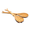 10 Inch Twig Salad Servers - Kenya
