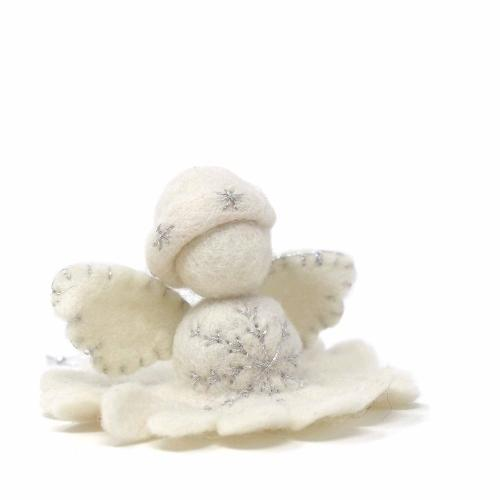 White Angel Felt Ornament - Nepal