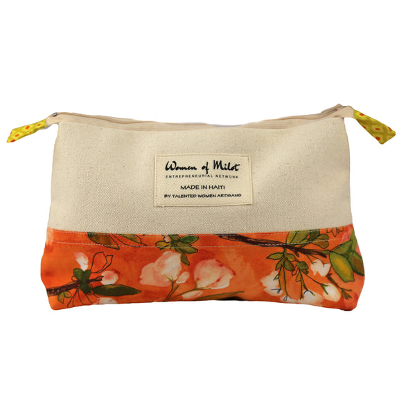 Orange Blossom Make-Up Bag - Haiti