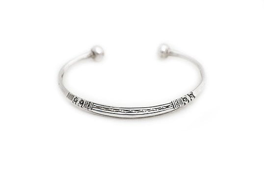 Fine Sterling Silver Raised Edge Cuff - Niger