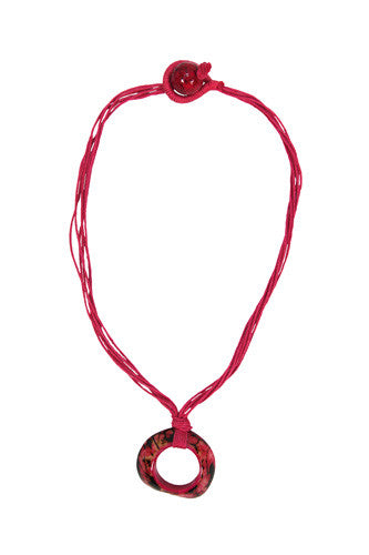 Pebble Tagua Necklace Pink - Colombia