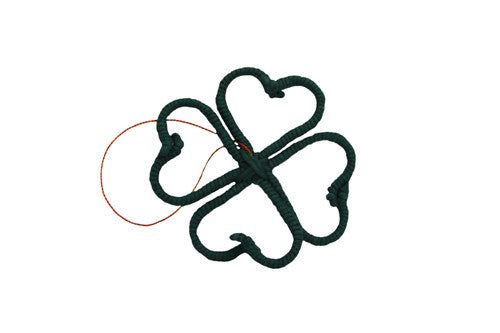 Yarn Four Leaf Clover Ornament - Colombia