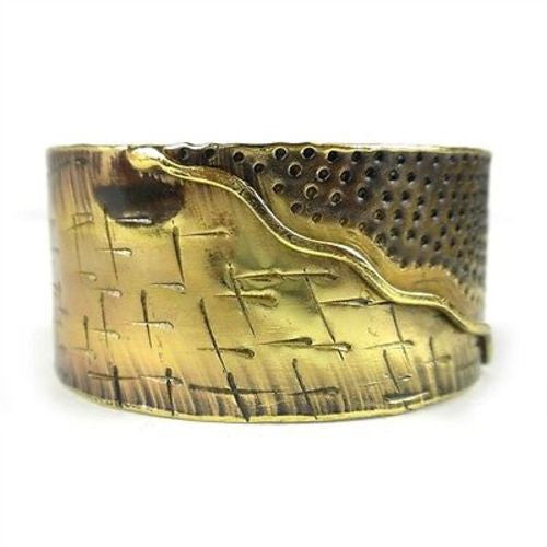 Convergence Brass Cuff Handmade and Fair Trade